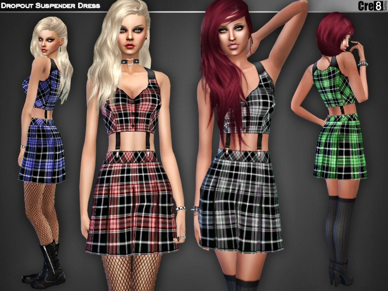 Dropout Suspender Dress BY Cre8Sims
