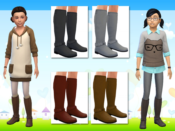 Tall Boots for Sims Girls by wjewerica