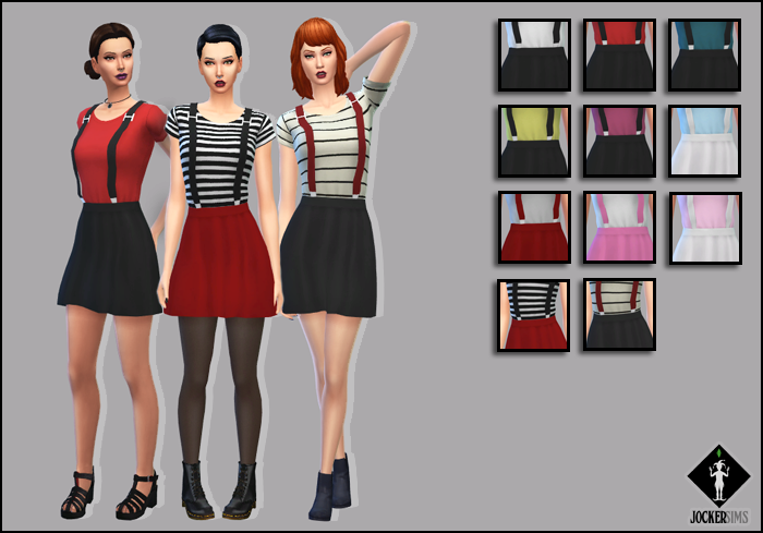 Better Love Dress with 3D Suspenders with 11 Presets for Teen - Elder Females by JockerSims