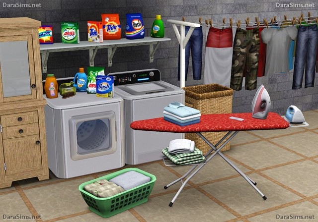 Laundry Decor Set [The Sims 3] by Darasims