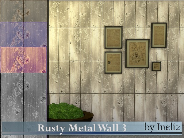Rusty Metal Wall 3 by Ineliz