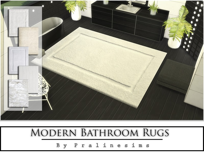 Modern Bathroom Rugs  BY Pralinesims