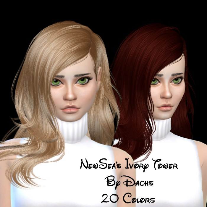 Newsea Ivory Tower Hair in 20 Recolors by Dachs