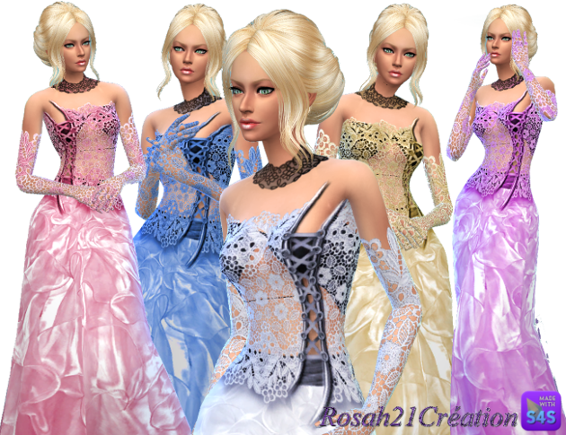 Robe bustier By SIMS DENTELLE