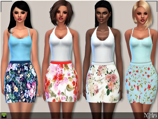 S4 Sweet Floral Dresses by Margeh-75