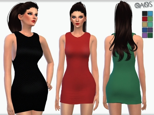 Cut Out Bodycon Dress - 3D Mesh by OranosTR