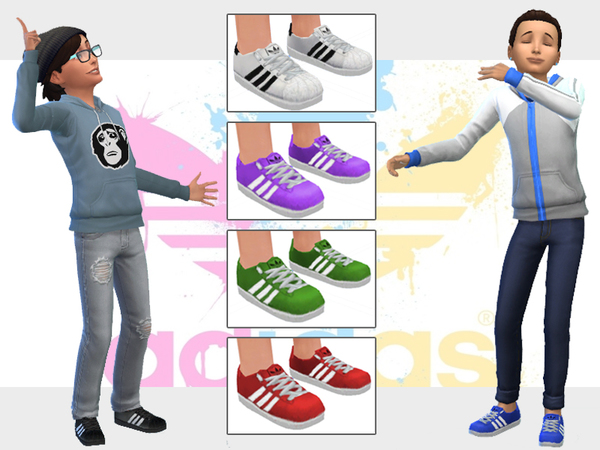 Adidas Shoes for Sims Kids by wjewerica