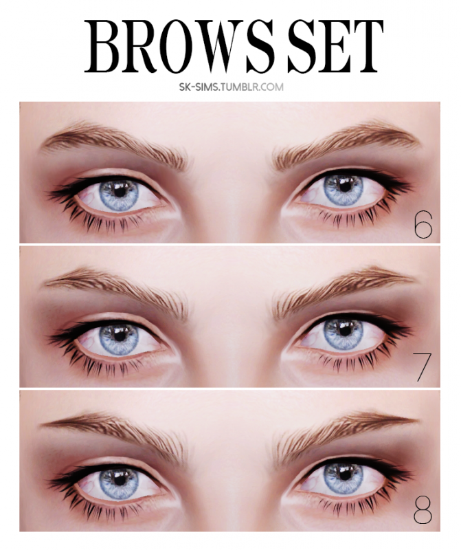 Brows Set by sk-sims