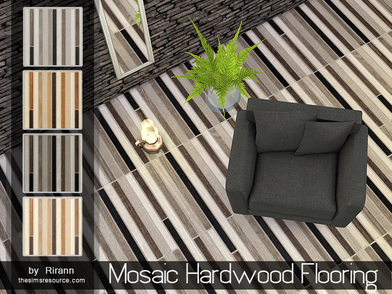 Mosaic Hardwood Flooring  BY Rirann