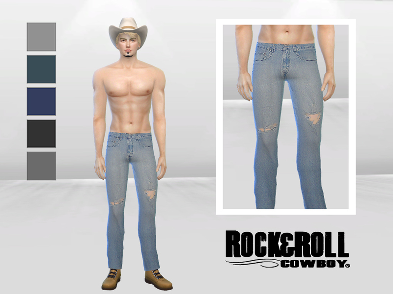Dusty Road Tattered Denim Jeans  BY McLayneSims