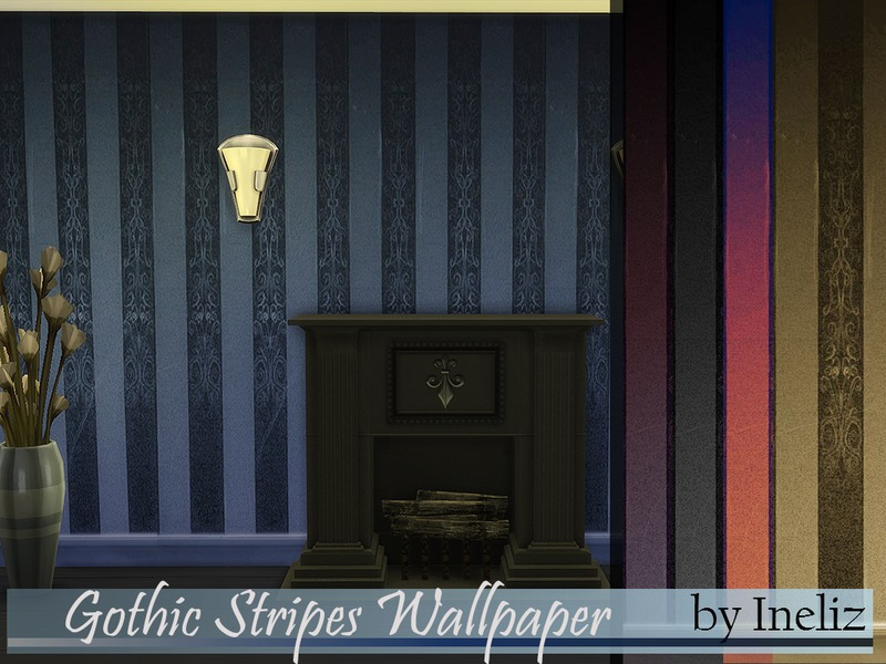 Gothic Stripes Wallpaper  BY Ineliz