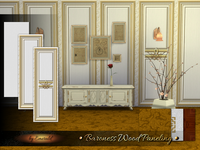 Baroness Wood Paneling BY emerald