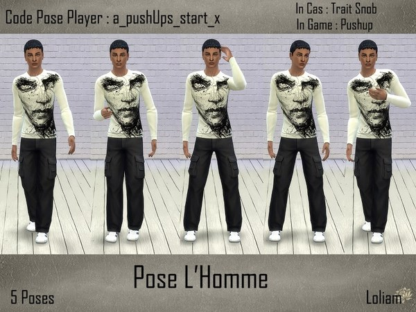 Poses L'Homme by LoliamSims
