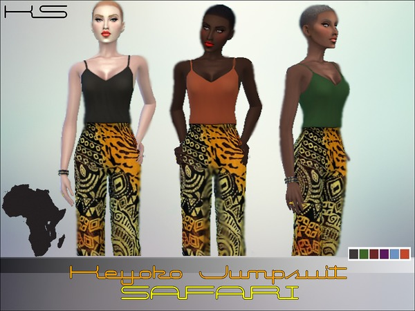 Keyoko Jumpsuit- African - Set - 6 by -KaiSims-