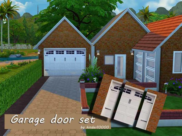 Garage door wall set by kinder10000