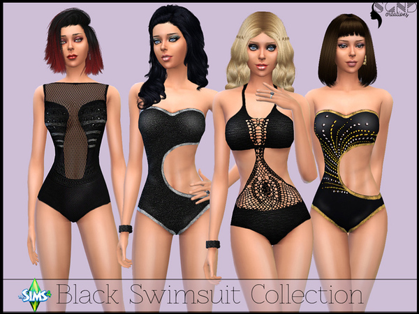 Black Swimsuit Collection by SimGirlNextDoor