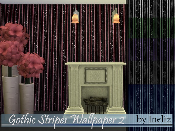 Gothic Stripes Wallpaper 2 by Ineliz