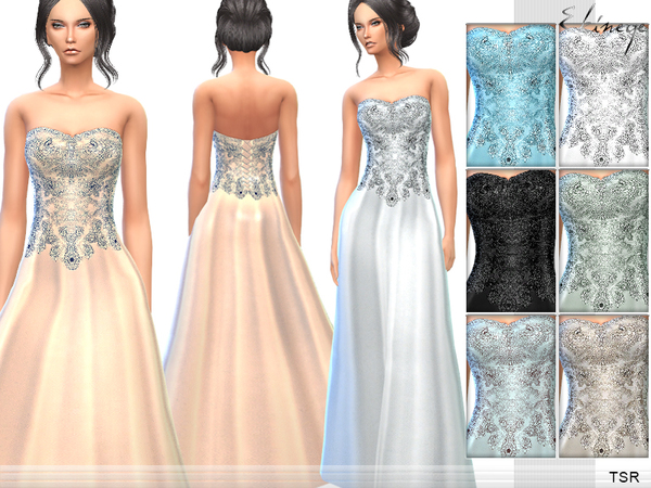 Strapless Gown by ekinege