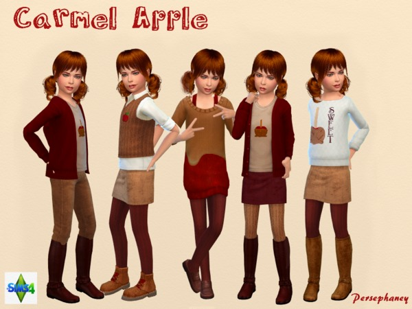 Caramel Apple Set by Persephaney