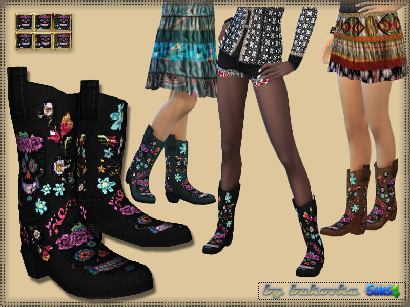 Embroidered Cowboy Boots  BY bukovka