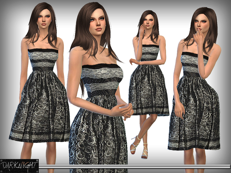 Lace-Print Midi Dess  BY DarkNighTt