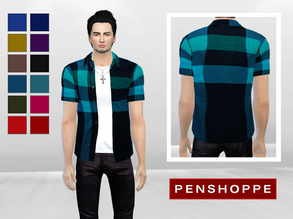Keegan Open Checkered Shirt by McLayneSims