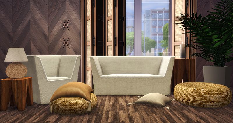 TS3 Nanu Boah Living Set Conversion by Blue Hopper Simming