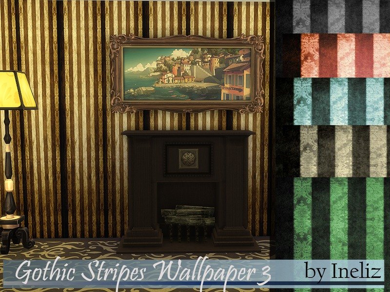 Gothic Stripes Wallpaper 3 BY Ineliz
