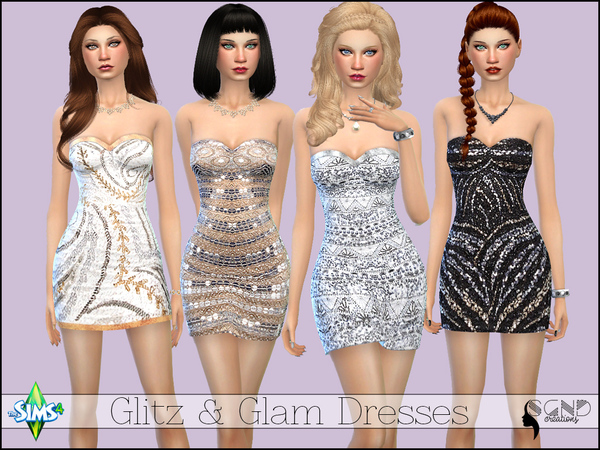 Glitz & Glam Dress by SimGirlNextDoor