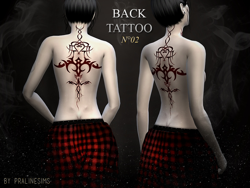Back Tattoo N02 BY Pralinesims