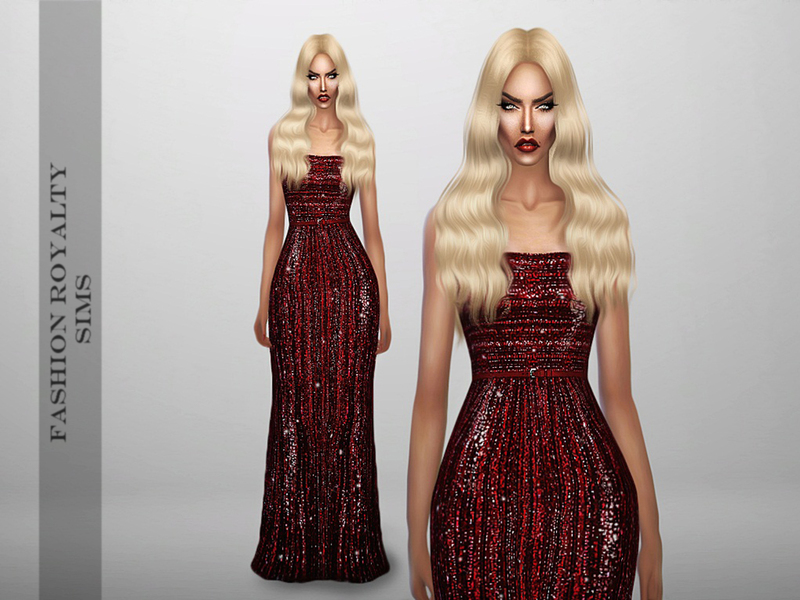 Elie Saab Fall 2013 - Glitter Red Gown BY FashionRoyaltySims