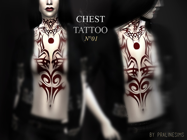 Chest Tattoo N01 by Pralinesims