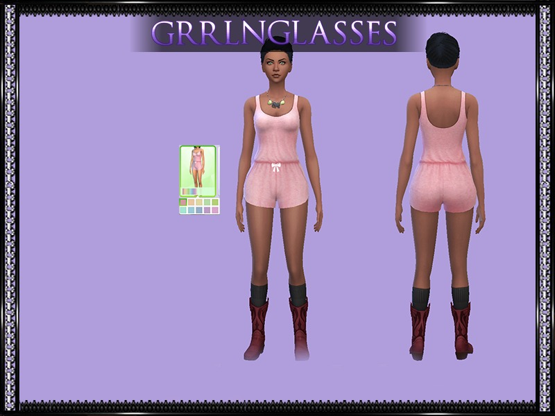 Mysimlifefou's Sleeveless Romper Jumpsuit - Requires Mesh BY grrlnglasses