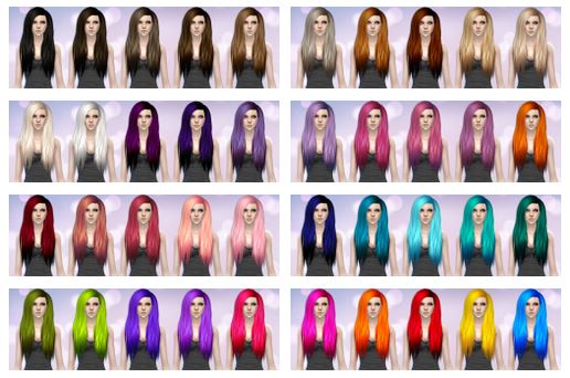 Stealthic Hair Retexture in 40 Colors by Aveirasims
