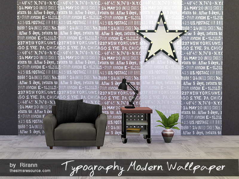 Typography Modern Wallpaper BY Rirann