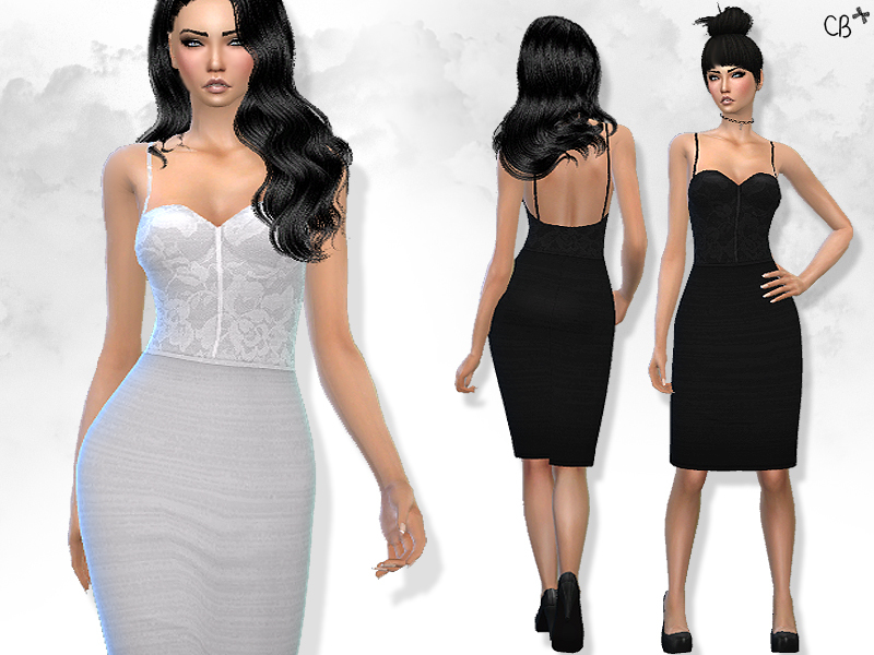 Pencil dress with straps  BY CherryBerrySim