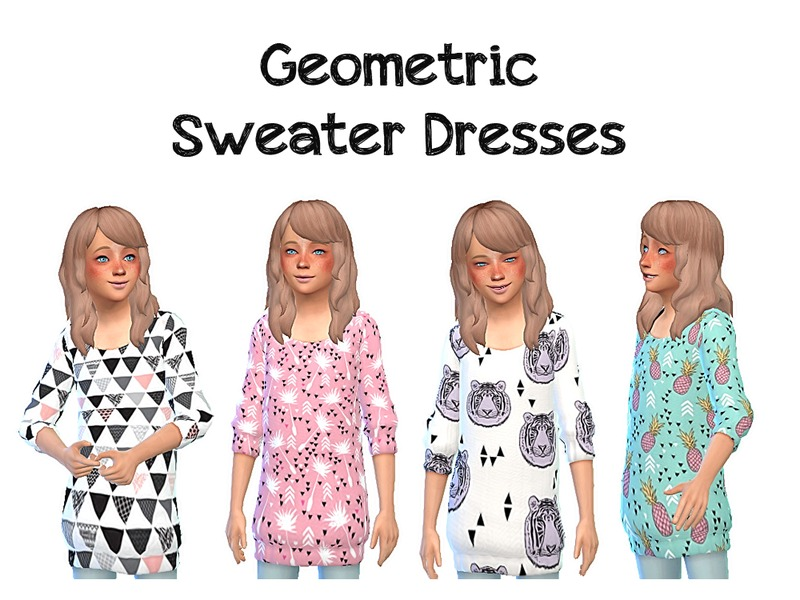 Geometric Sweater Dresses  BY pixelkitteh