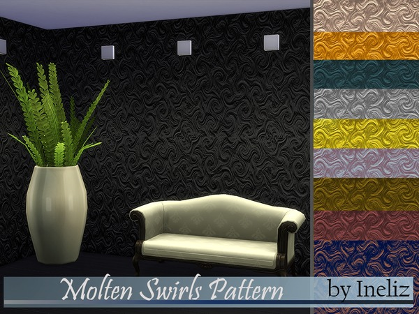 Molten Swirls Pattern by Ineliz