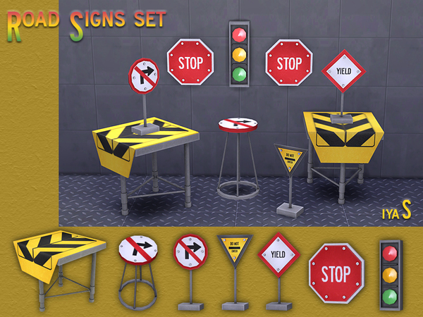 Traffic Signs Decor Set by soloriya