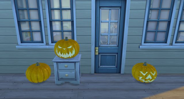 Pumpkin Lamp Set by Noiranddarksims