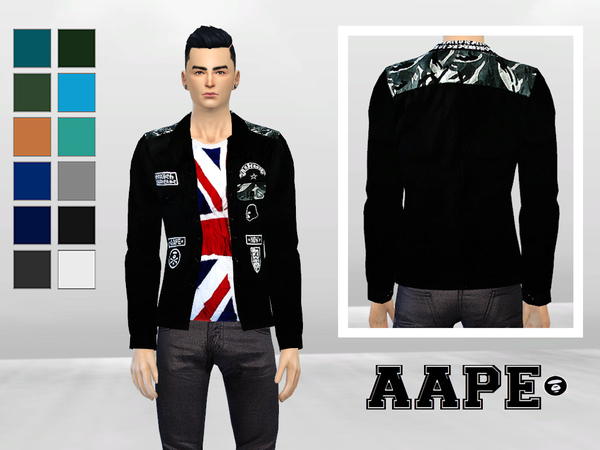 Camouflage And Badges Button-Up Jacket by McLayneSims