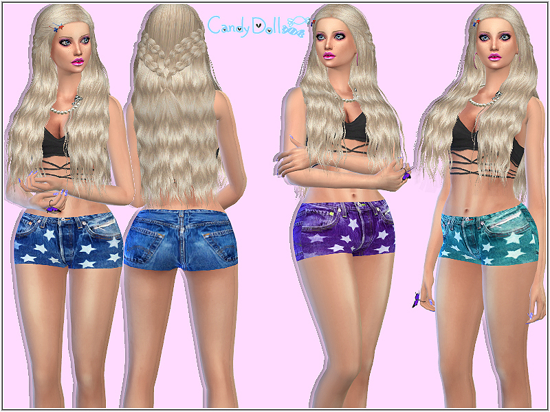 Candy Doll Star Shorts  BY DivaDelic06