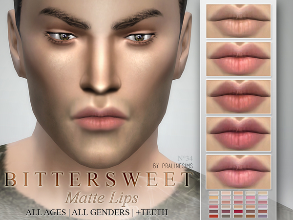 Bittersweet~ Matte Lipstick 30 Colors  N34 by Pralinesims