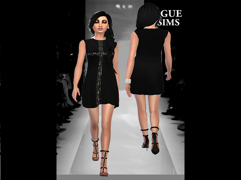 YSL GLITTER DRESS BY VOGUE4SIMS