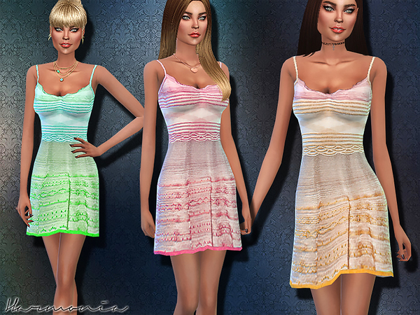 Silvery Multicolor Crochet-Knit Dress by Harmonia