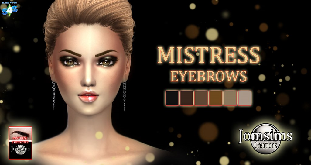 EYEBROWS, LIPS, EYESHADOWS, EYEMASK AND FACE MODELER By JOMSIMS
