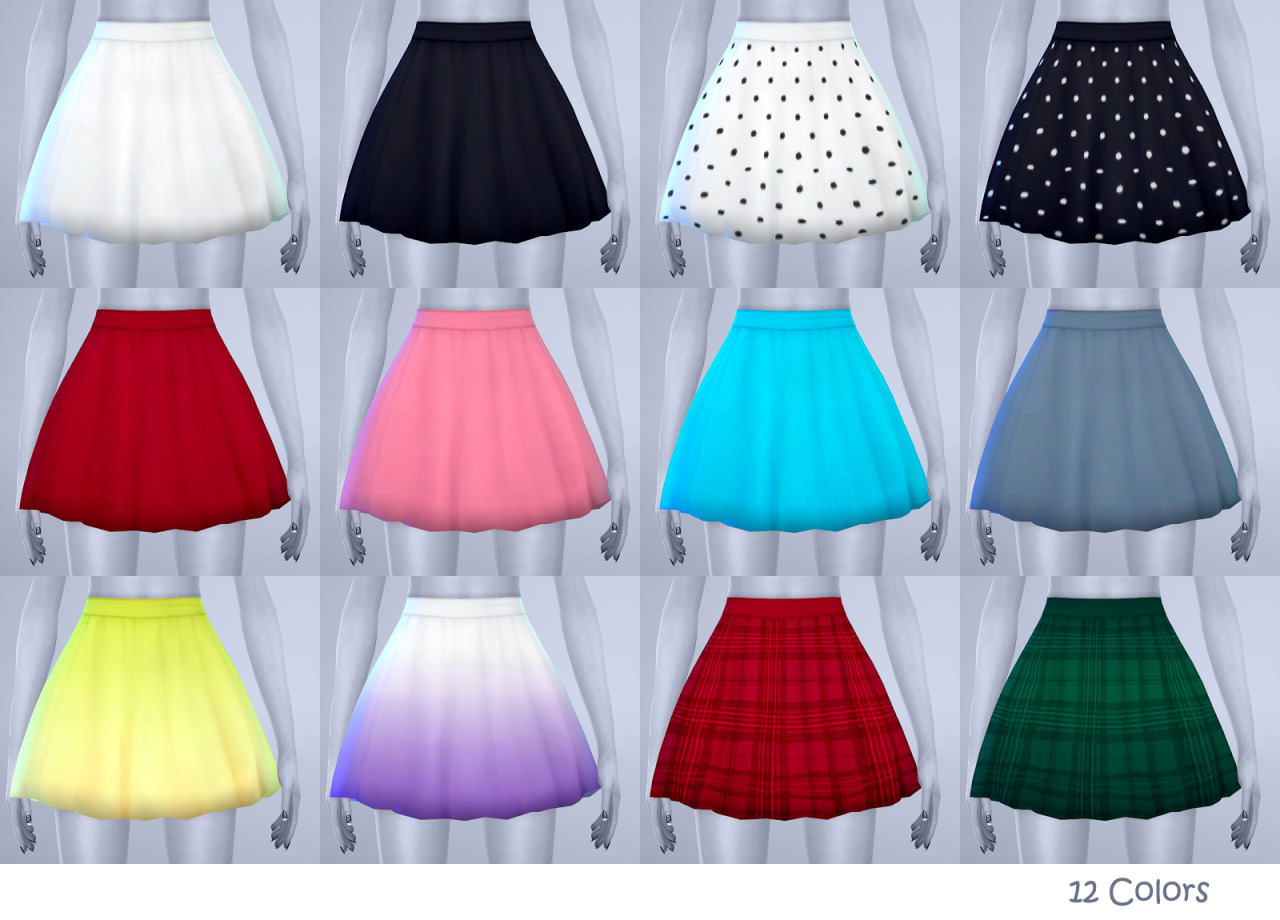 Dolly Skirt in 12 Colors for Teen - Elder Females by Manueapinny