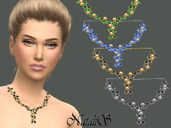 NataliS_Crystals and beads necklace