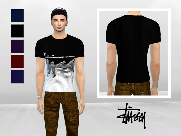 Plain And Simple Stussy Shirt by McLayneSims