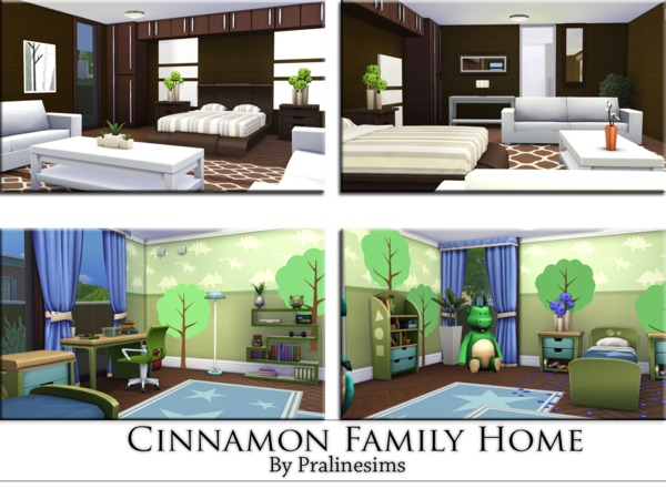 Cinnamon Family Home by Pralinesims